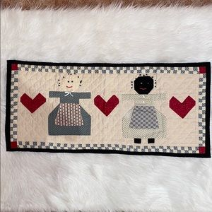 """Hand Quilted 31"""" x 14"""" Wall Hanging One of a Kind"""